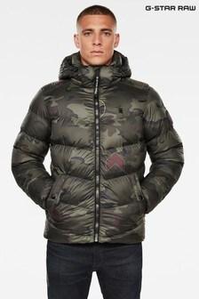 G-Star Green Whistler Hooded Padded Jacket