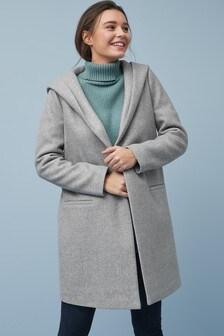 Svetrový kabát s kapucí