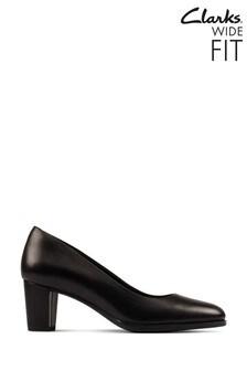 Clarks Black Leather Kaylin Court Shoes