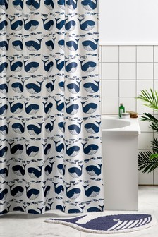 Wilson The Whale Shower Curtain