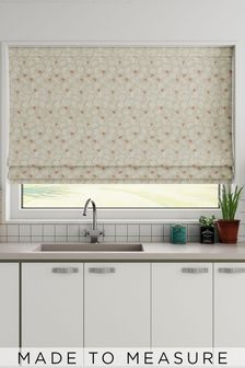 Leya Coral Natural Made To Measure Roman Blind
