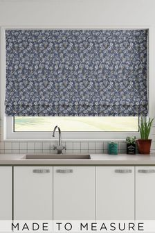 Leya Denim Blue Made To Measure Roman Blind