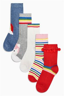 Rainbow Socks Five Pack (Younger)