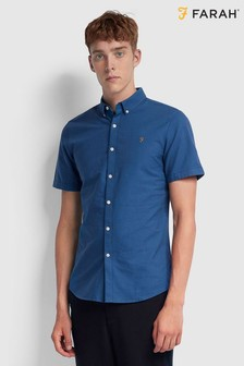 Farah Cotton Oxford Brewer Short Sleeved Shirt