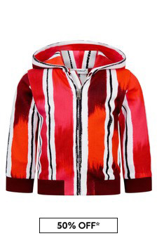 Dolce & Gabbana Kids Dolce & Gabbana Baby Boys Red Cotton Zip Up Top
