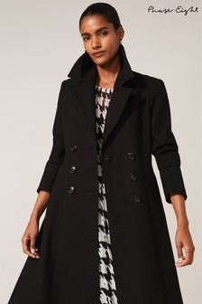 Phase Eight Black Sandra Swing Coat
