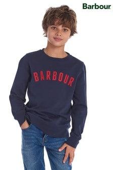 Barbour® Navy Logo Crew Sweater