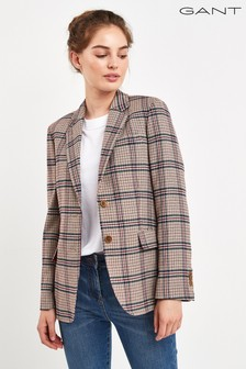 GANT Womens Washable Wool Regular Blazer