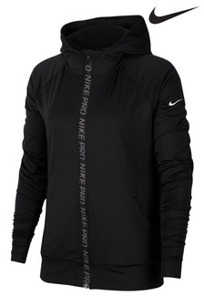 Nike Pro Black Warm Zip Through Hoody