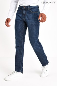 Темно-синие узкие джинсы GANT