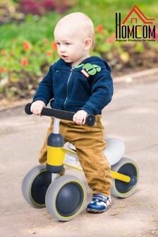 Kids Yellow 3-Wheel Aluminium Frame Balanced Bike By HOMCOM