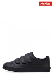 Kickers® Black Tovni Velcro Trainers