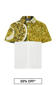 Versace Baby Boys White Cotton Shirt