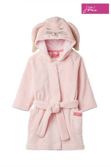 Joules Pink Bunny Character Dressing Gown