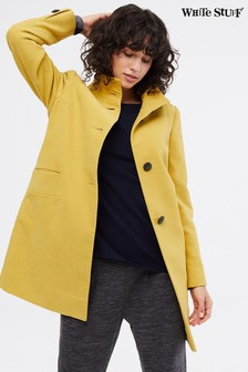 White Stuff Yellow Kenley Moleskin Twill Coat