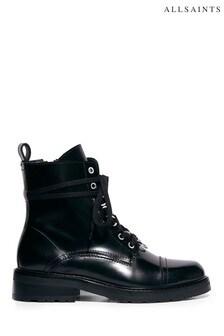 AllSaints Black Lira Ankle Boots