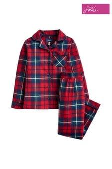 Joules Red Deva Woven Pyjama Set