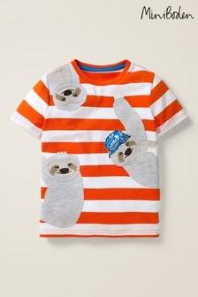 Boden Orange Friendly Appliqué T-Shirt