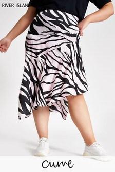 River Island Pink Print Antonio Skirt