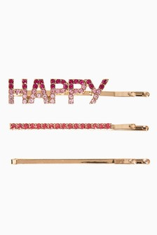 Sparkle Happy Hair Slides Two Pack