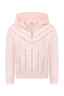 Bonpoint Girls Pink Cotton Hoody