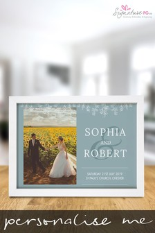 Personalised Wedding A4 Framed Print by Signature PG