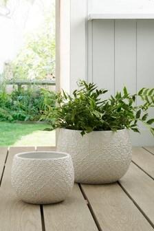 Tile Embossed Planter