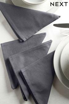 Cotton Blend With Linen Set of 4 Napkins