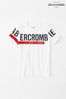 Abercrombie & Fitch白色標誌T恤