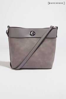 Warehouse Grey Hardware Crossbody Bag