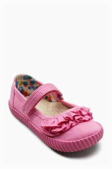 Mary Jane Ruffle Pumps (Younger)