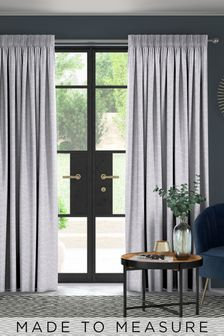 Cullen Slate Silver Made To Measure Curtains