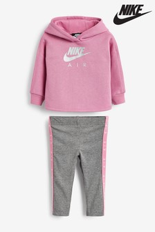 Nike Infant Pink/Grey Air Hoody And Legging Set