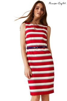 Phase Eight Red Briony Stripe Dress