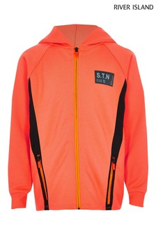 River Island Orange Zip Through Jacket