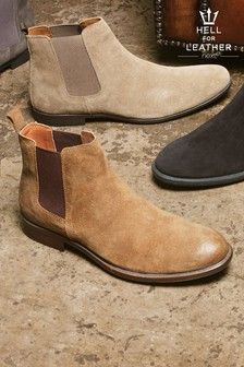 Waxed Suede Chelsea Boots