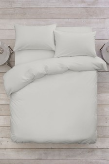 Easy Care Polycotton Duvet Cover and Pillowcase Set