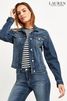 Lauren Ralph Lauren® Indigo Wash Denim Paizley Jacket