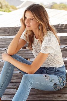 Short Sleeve Lace Top