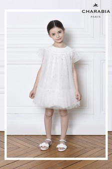 Charabia White Butterfly Dress
