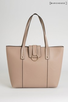 Warehouse Nude Hardware Detail Tote Bag