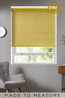 Scribble Olive Green Made To Measure Roller Blind by Orla Kiely