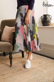 Boden Louisa Pleated Midi Skirt