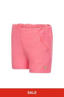 Tartine et Chocolat Baby Girls Pink Linen Shorts