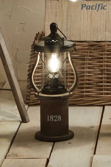 Gibson Antique Wood Lantern Table Lamp by Pacific Lifestyle
