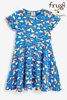 Frugi Organic Cotton Rainbow Skies Skater Dress