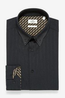 Košeľa s úzkym strihom, s jednoduchou manžetou a dvojitým golierom