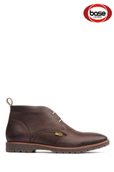 Base London Brown Miller Lace-Up Desert Boots