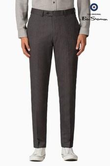 Ben Sherman Main Line Grey Herringbone Trousers