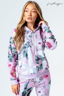 Hype. Womens Pink Blush Cropped Zip Hoody